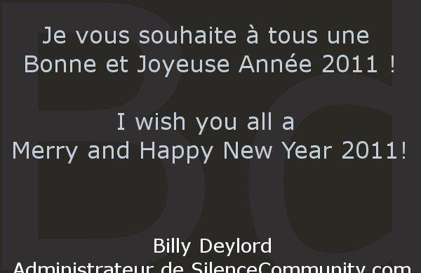 Bonne Année 2011 ! Happy New Year 2011!