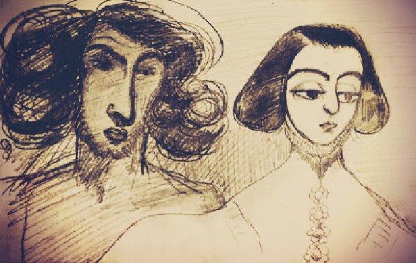 George Sand et Alfred de Musset