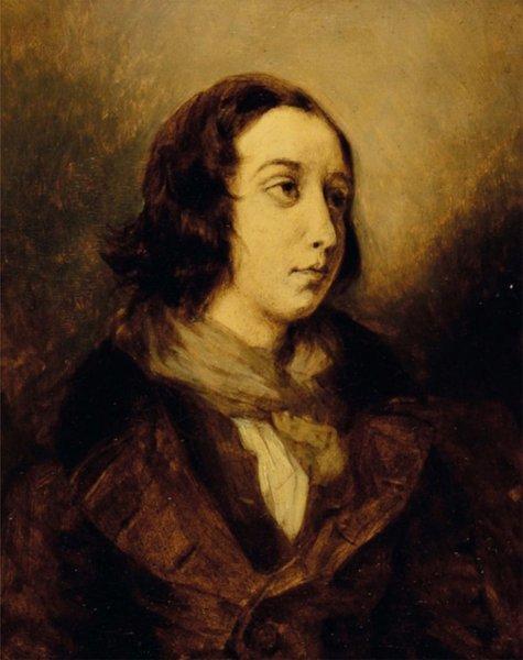 George Sand par Eugène Delacroix