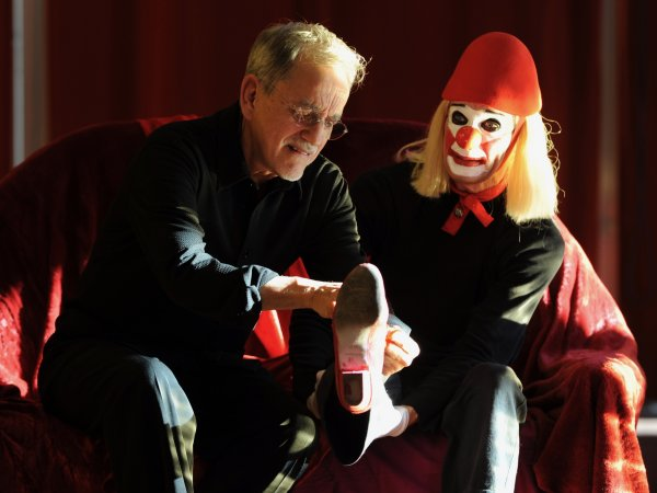 Mario Gonzalez et le clown Laurent