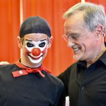 Le clown Laurent et Mario Gonzalez