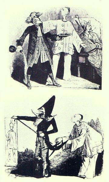 Deux caricatures de Jean-Gaspard Deburau